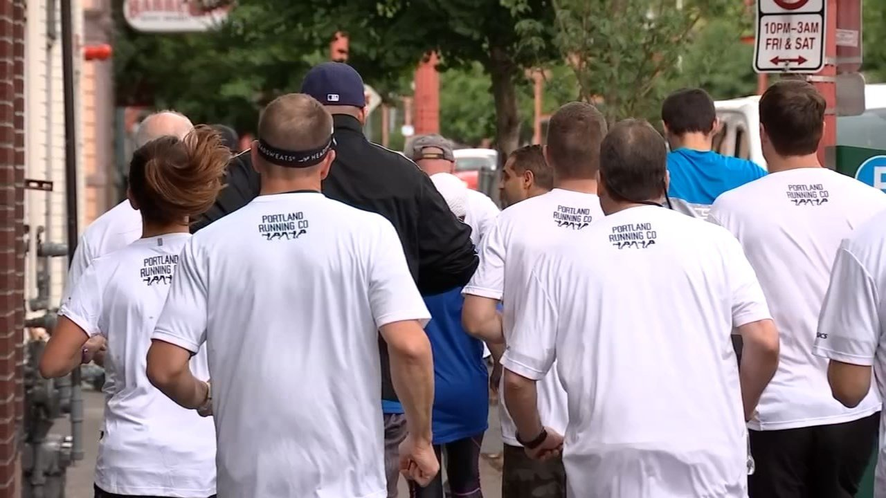 Runners with the group from Union Gospel Mission now train on the same streets where they used to stay when they were homeless. (KPTV)