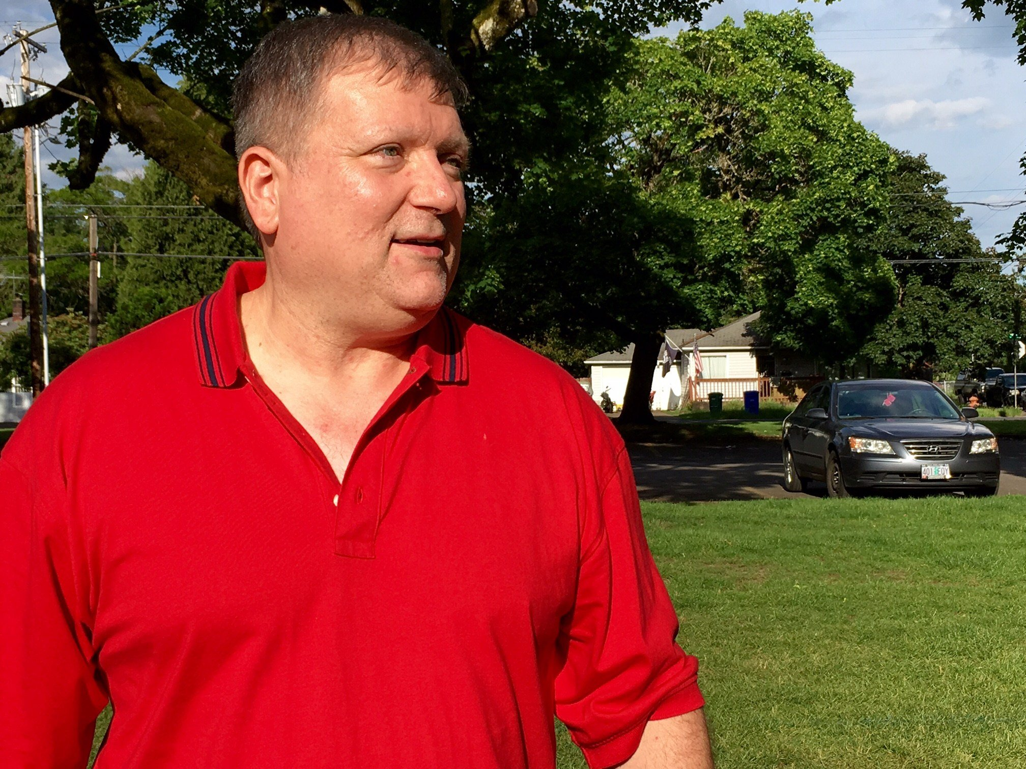Former Portland Police officer John Hurlman Monday. (KPTV)