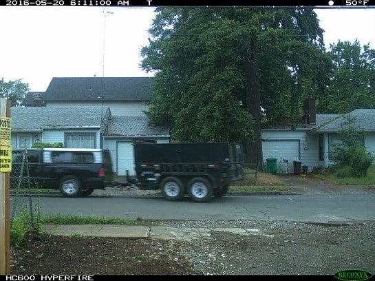 Stolen trailer (Courtesy: David Sideras)