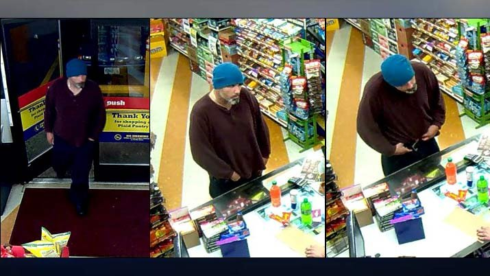 Surveillance images of Plaid Pantry armed robbery suspect (Images: Portland Police Bureau)