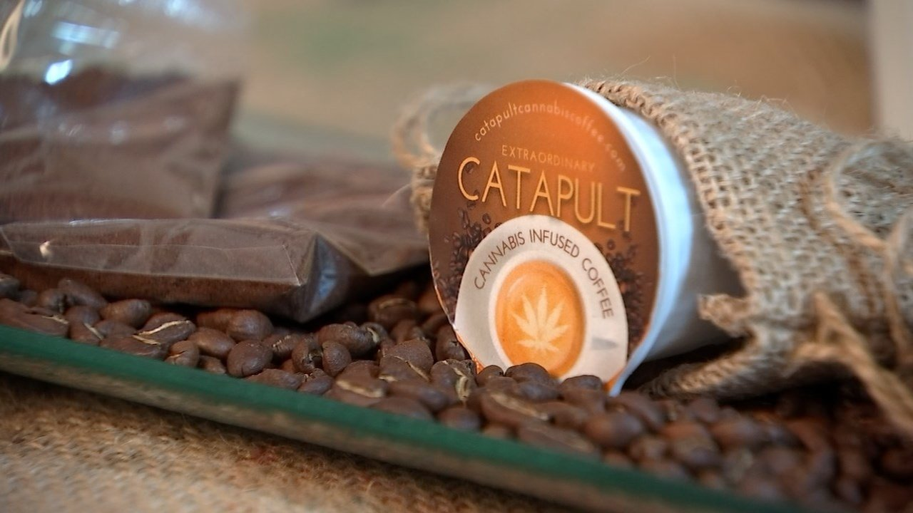 Catapult Coffee is locally roasted in Vancouver by Fairwinds Manufacturing, but this cup of Joe has a cannabis kick. (KPTV)