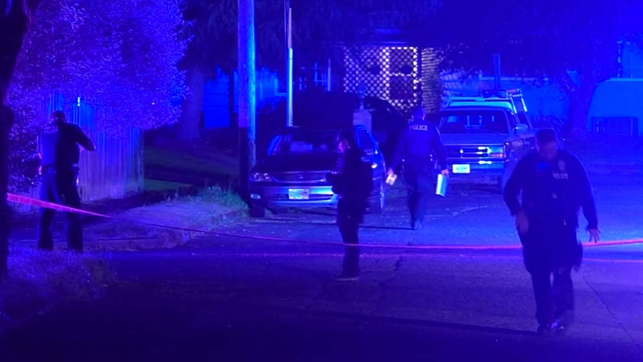 Scene of deadly Gresham officer-involved shooting. (Source: KPTV)
