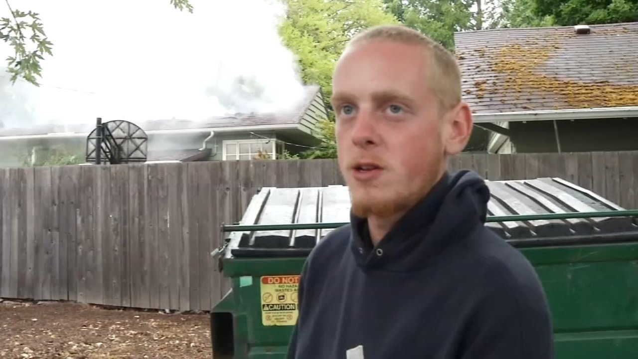 Henry Gulacy described a fire that destroyed a Forest Grove home to a FOX 12 news crew in August 2015. He was later arrested for arson. (KPTV file image)