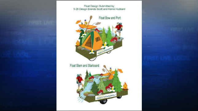 Concept design of the mini float. (KPTV)