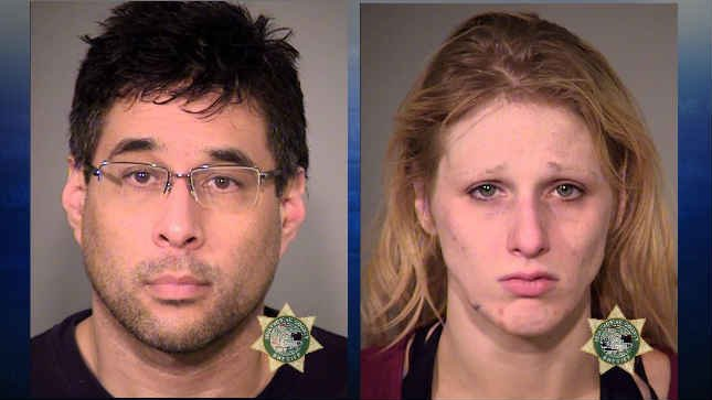 David Hyliard and Chelsea Lovell, jail booking photos (KPTV)