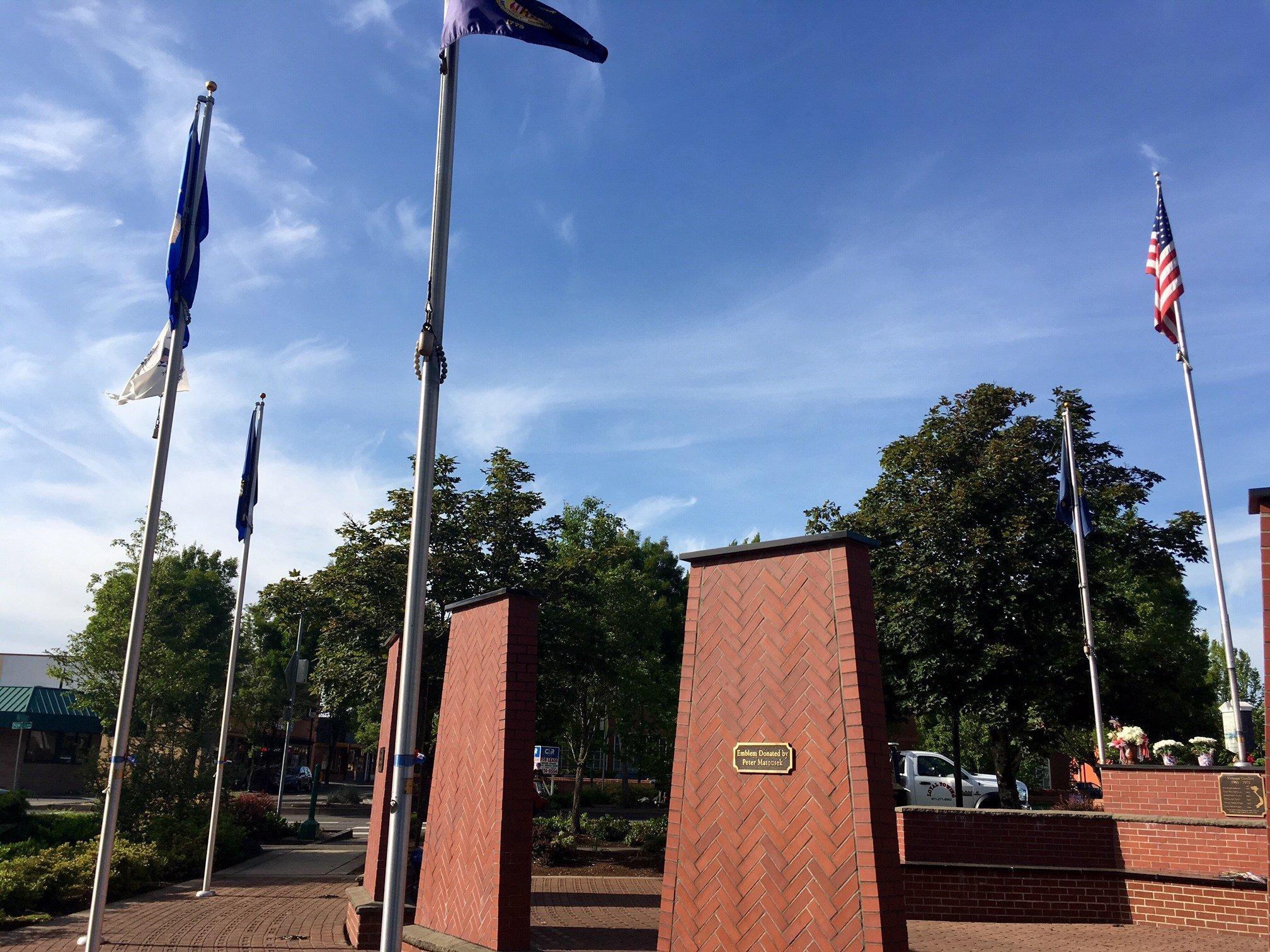 The Gresham Heroes Memorial. (KPTV)