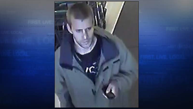 Person of interest in explosion at Fred Meyer store in southeast Portland (Surveillance image: Portland Police Bureau)