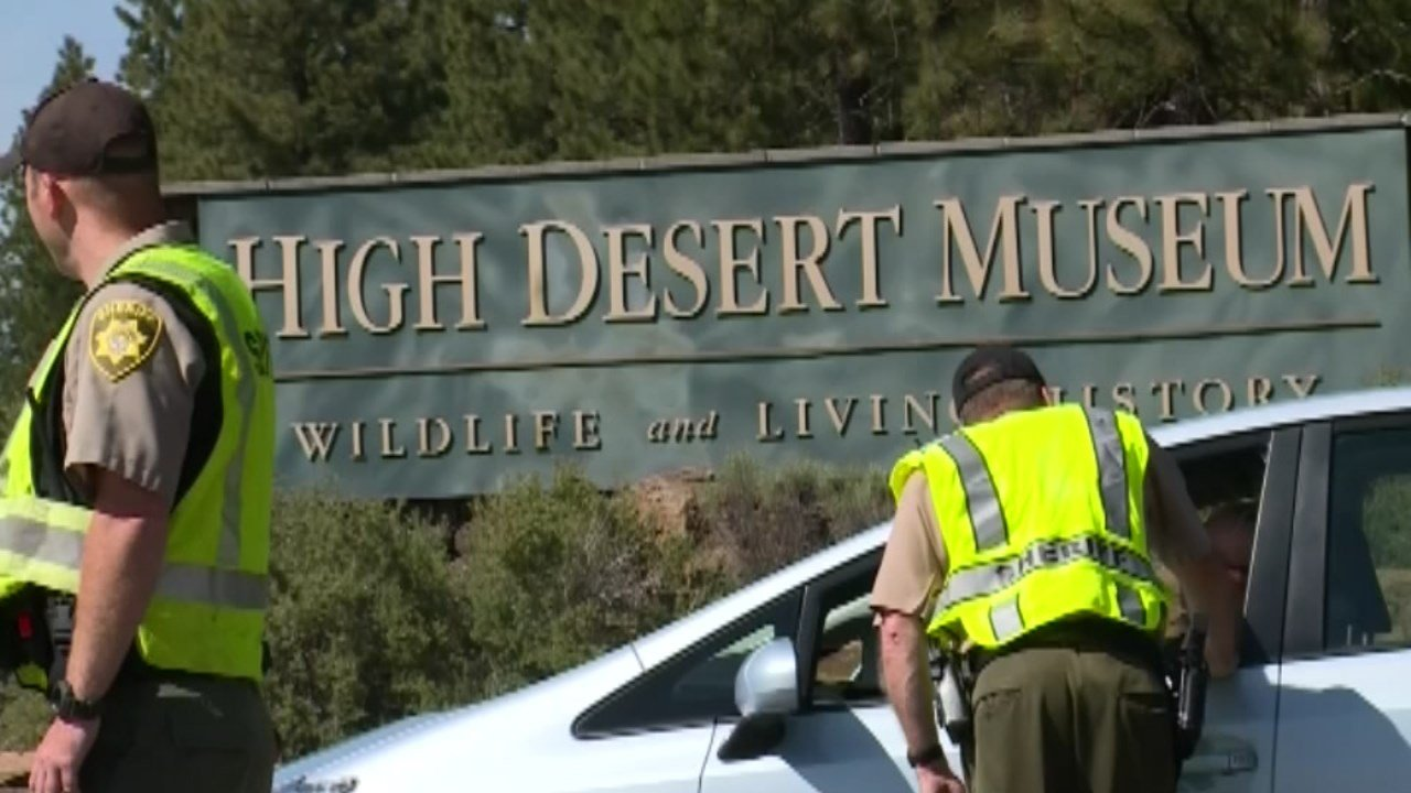 Officers at High Desert Museum in Bend after deadly officer-involved shooting. (Source: FoxNews Edge)