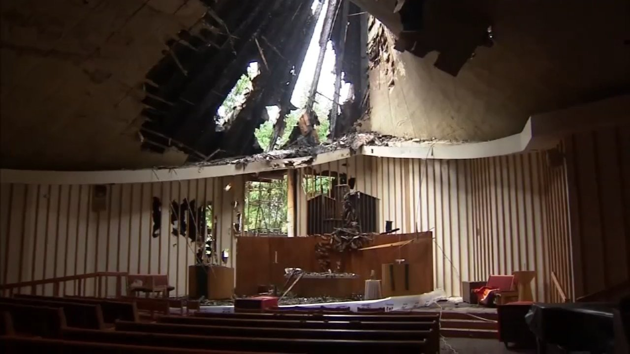 Damage done to First Congressional United Church of Christ (KPTV)