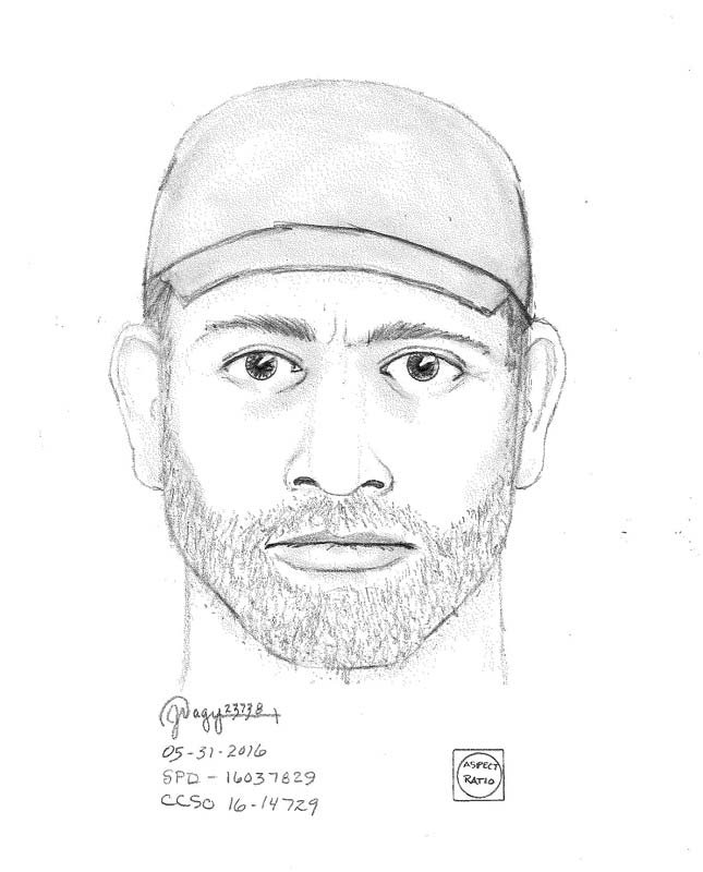 Sketch of St. Helens burglary suspect.