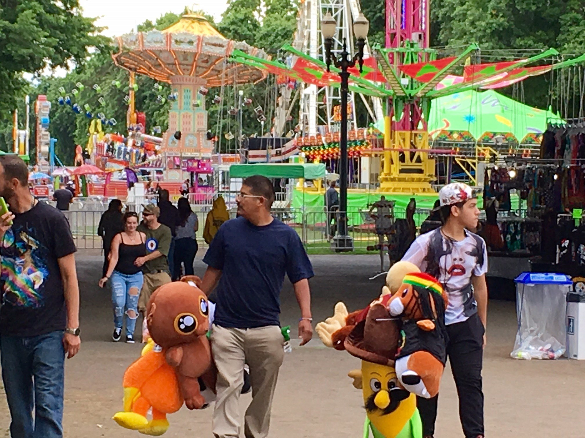 People enjoying City Fair in Portland Thursday. (KPTV)