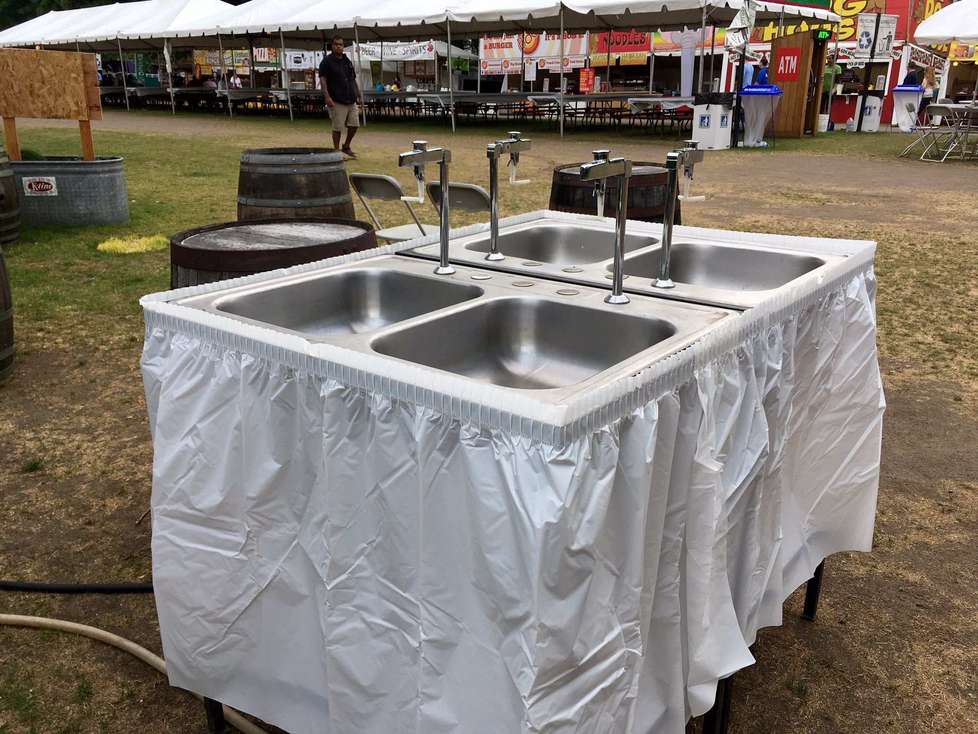 One of two free water bottle filling stations at City Fair. (KPTV)