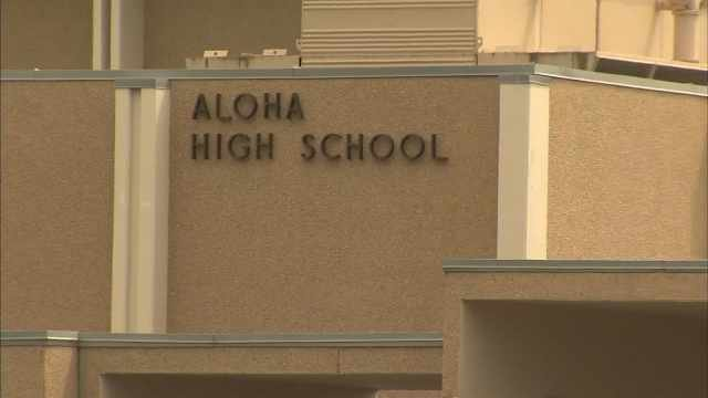 Aloha High School was named in the lawsuit against Beaverton School District claiming girls pay more than boys for athletic fees. (KPTV)