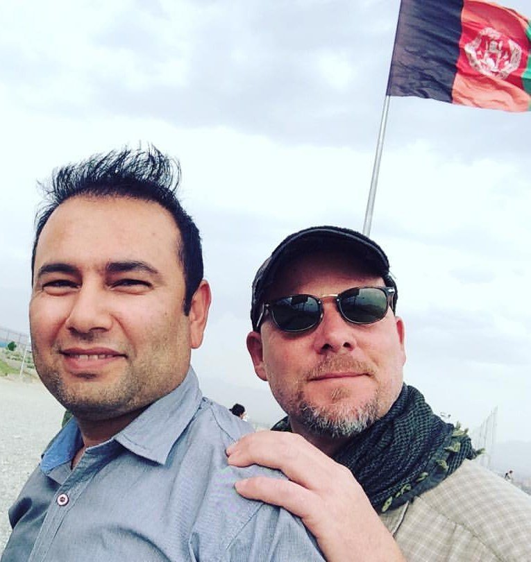 David Gilkey (Right), a veteran news photographer and video editor for National Public Radio, and Zabihullah Tamanna (Left), an Afghan translator, were killed while on assignment in southern Afghanistan (Courtesy:Monika Evstatieva/NPR via AP)