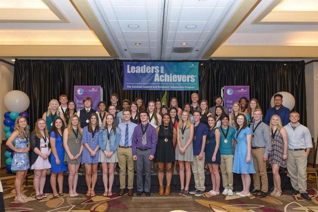 60 seniors from Oregon and SW Washington were awarded $1,000 Leaders and Achievers Scholarships Saturday in Portland. (Comcast)