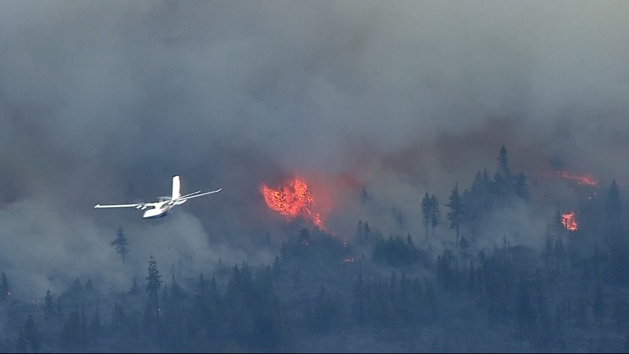 Akawana Fire (Source: KPTV/Air 12)