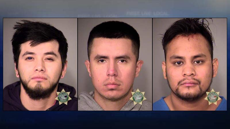 Jail booking photos of Oliver Reyes-Zaragoz, Angel Canseco and Carlos DeJesus.