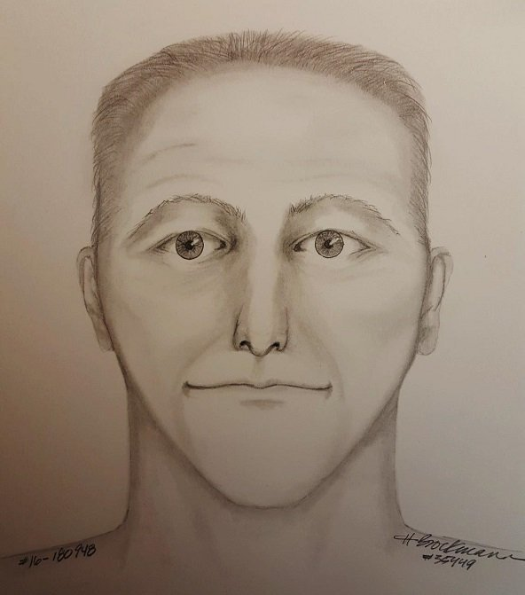 Sketch of wanted SE Portland sexual assault suspect. (Sketch: Portland Police Bureau)