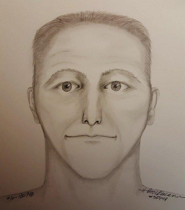 Sketch of wanted SE Portland sexual assault suspect. (Sketch: Portland Police Bureau)