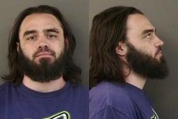 Brandon Beckner's jail booking photo, courtesy of Albany Police.