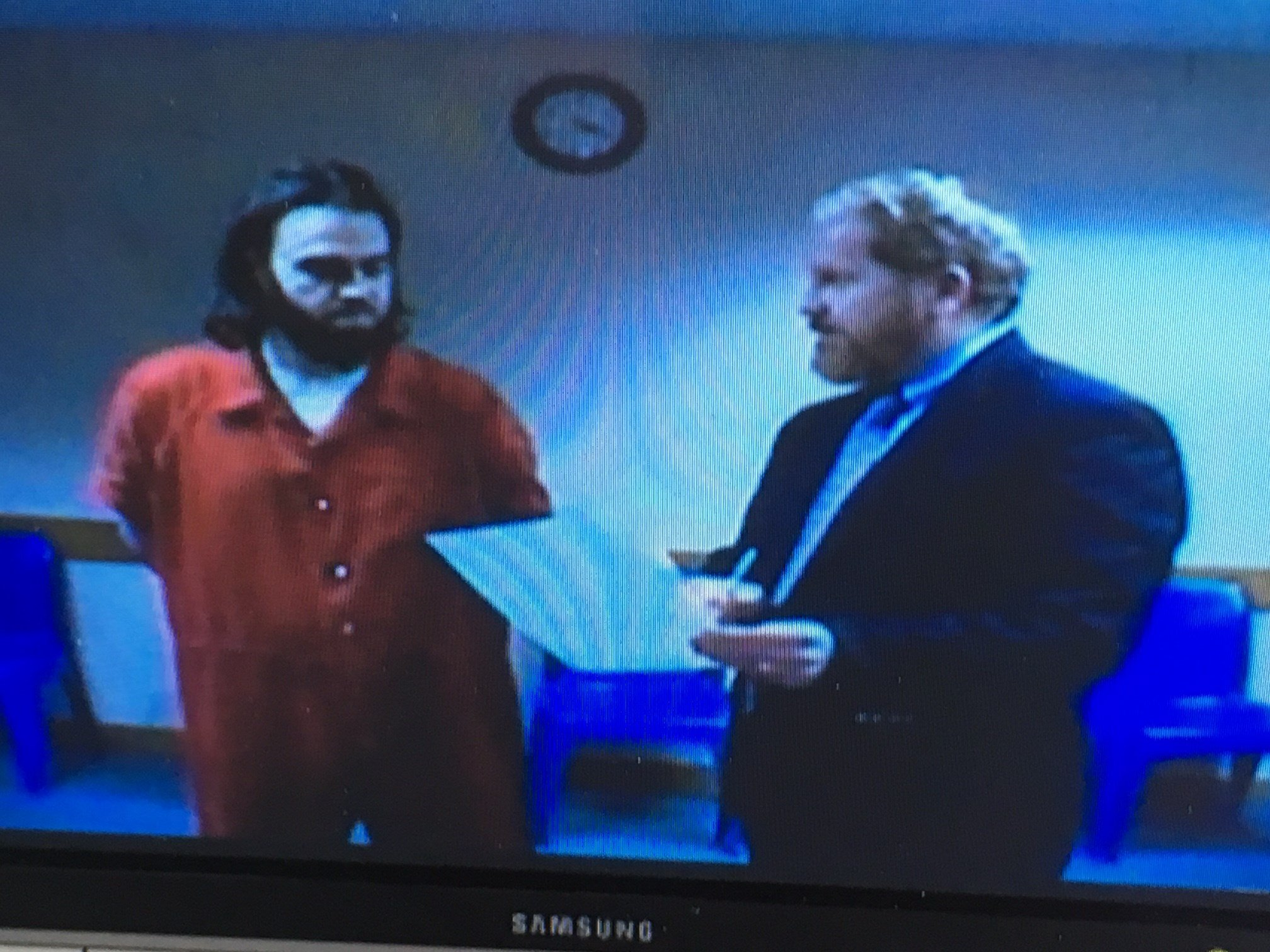 Beckner, pictured left, in court for his arraignment Friday.