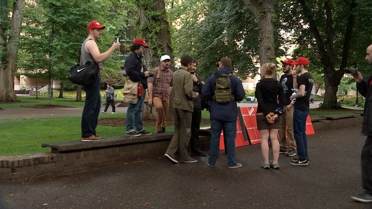 Students holding a pro-Trump rally at Portland State University Friday said they realize it is doubtful Oregon will swing for their candidate in the fall but that they still want to be heard. (KPTV)