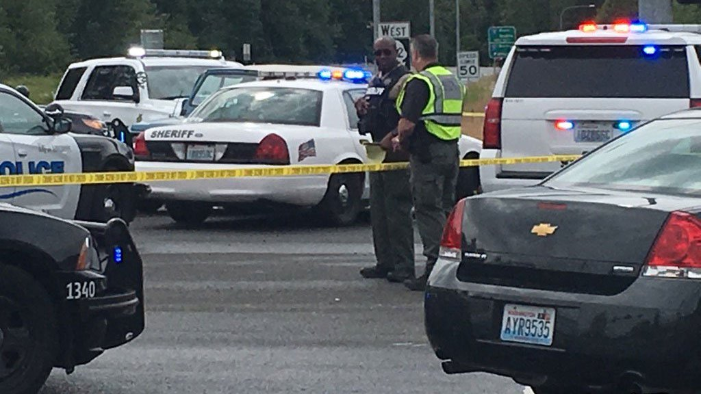 Officers from multiple agencies in Clark County were involved in the pursuit of a suspect in a bank robbery that ended in Battle Ground Monday. (KPTV)