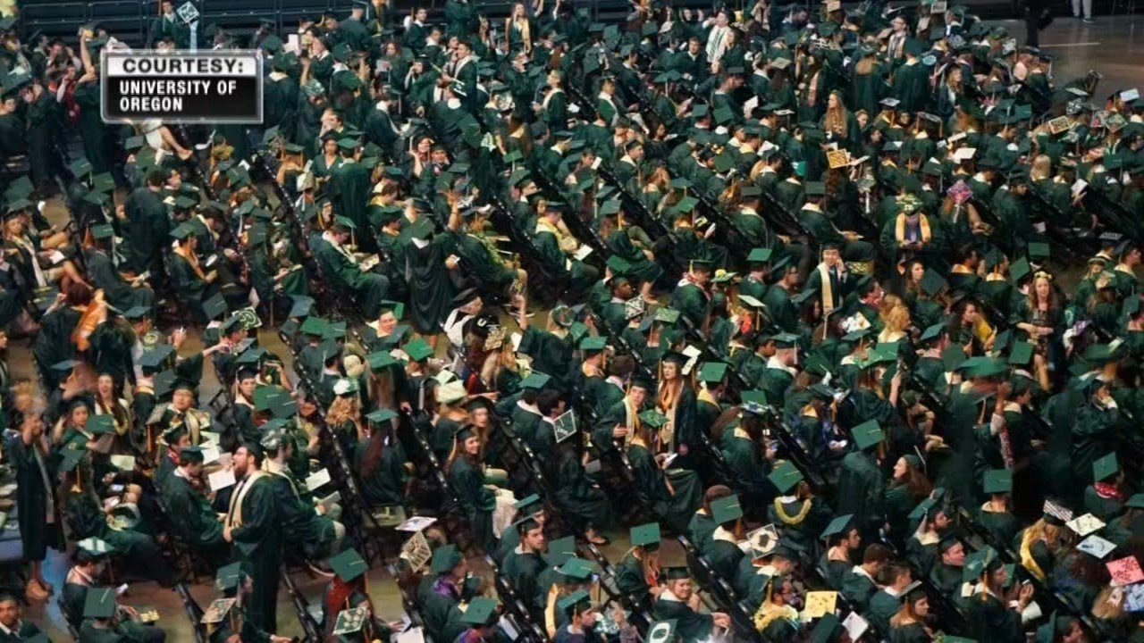 University of Oregon commencement ceremony held on Monday (Courtesy: University of Oregon)