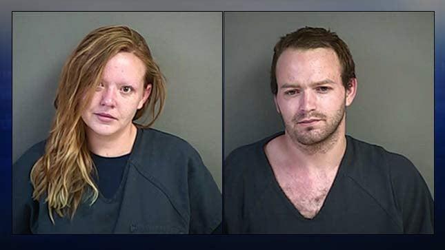 Brooklyn Weiker, Bradley Allen, jail booking photos