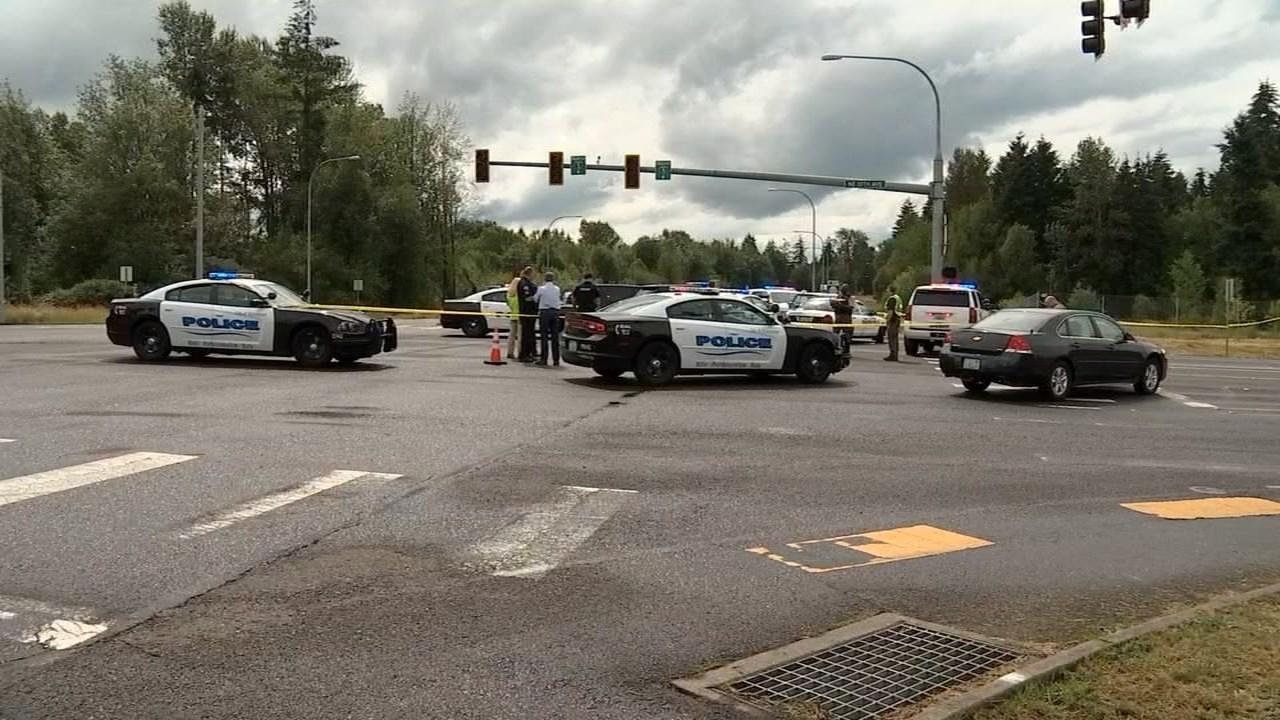 Scene of officer-involved shooting in Battle Ground on Monday. (KPTV)