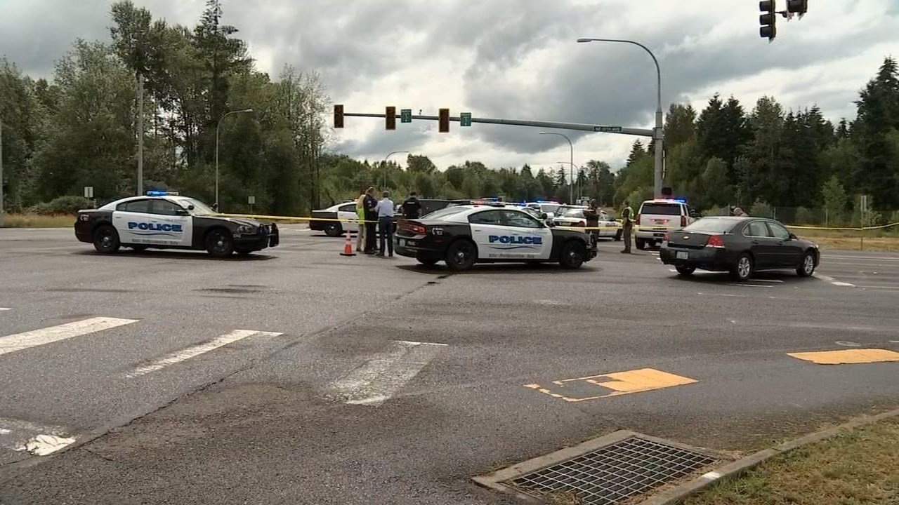 Scene of officer-involved shooting in Battle Ground on Monday. (KPTV)