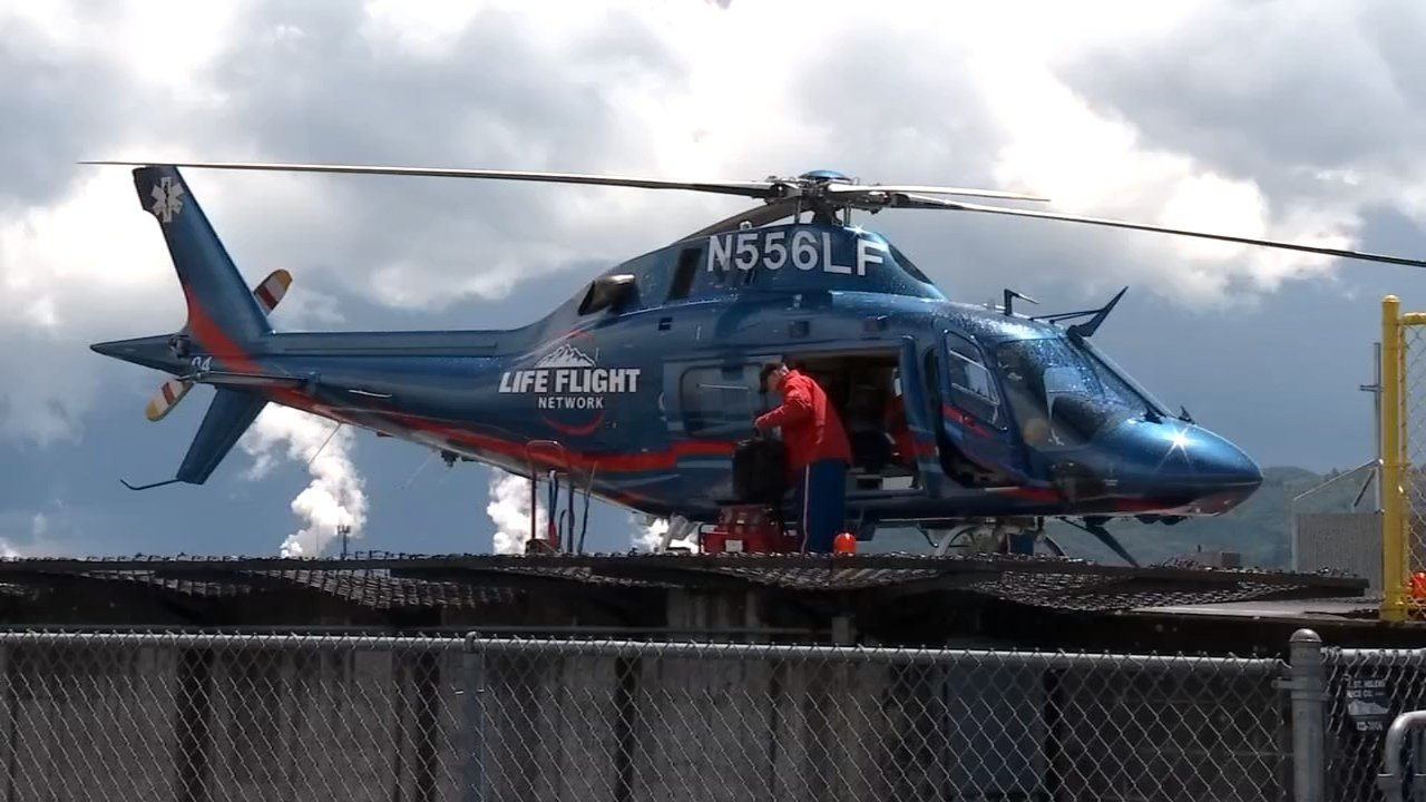 After hearing reports of a car prowler near the helipad at St. John's Medical Center in Longview, crews of the Life Flight helicopter discovered someone had been in the craft trying to start it up. (KPTV)