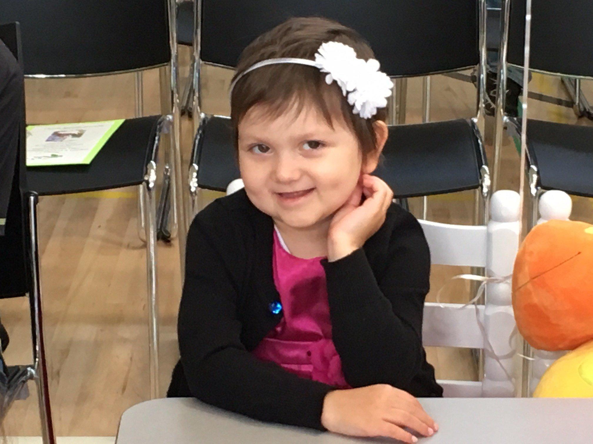 Abigail Kozhokar, at Thursday's assembly.