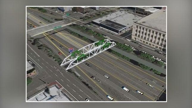 Artist's rendering of the proposed bicycle and pedestrian bridge. (KPTV)