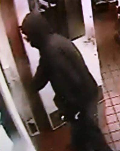 Surveillance image from Madras Burger King robbery (Photo: Madras PD)