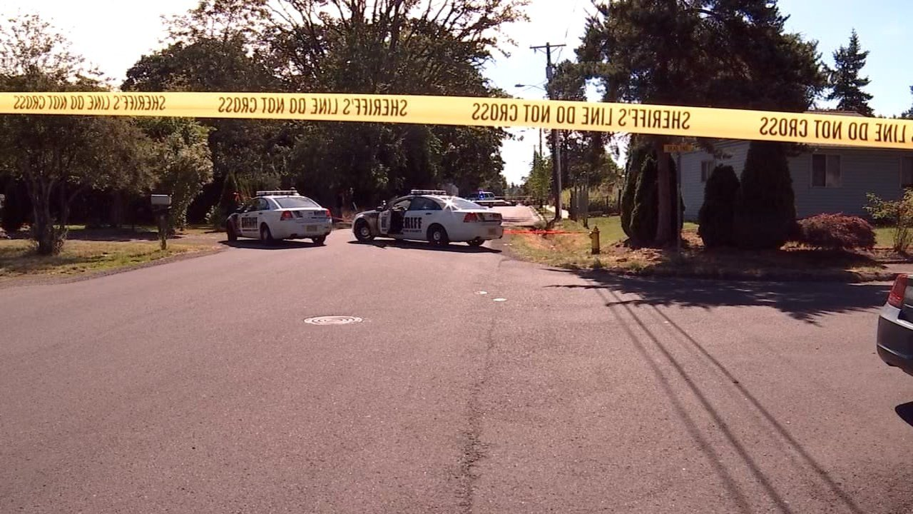 Deadly shooting scene in Aloha on Monday. (Photo: KPTV)