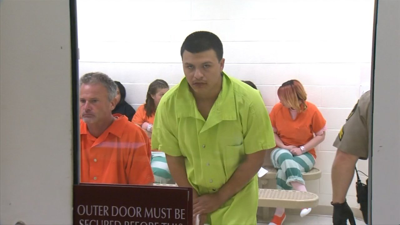 Roger Medina in court Wednesday. (Image: KPTV)