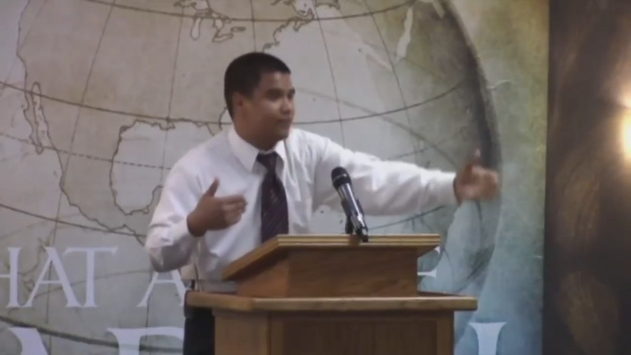 Pastor Roger Jimenez of the Verity Baptist Church in Sacramento delivered an anti-LGBTQ sermon following the mass shooting in Orlando. (Verity Baptist Church Youtube)