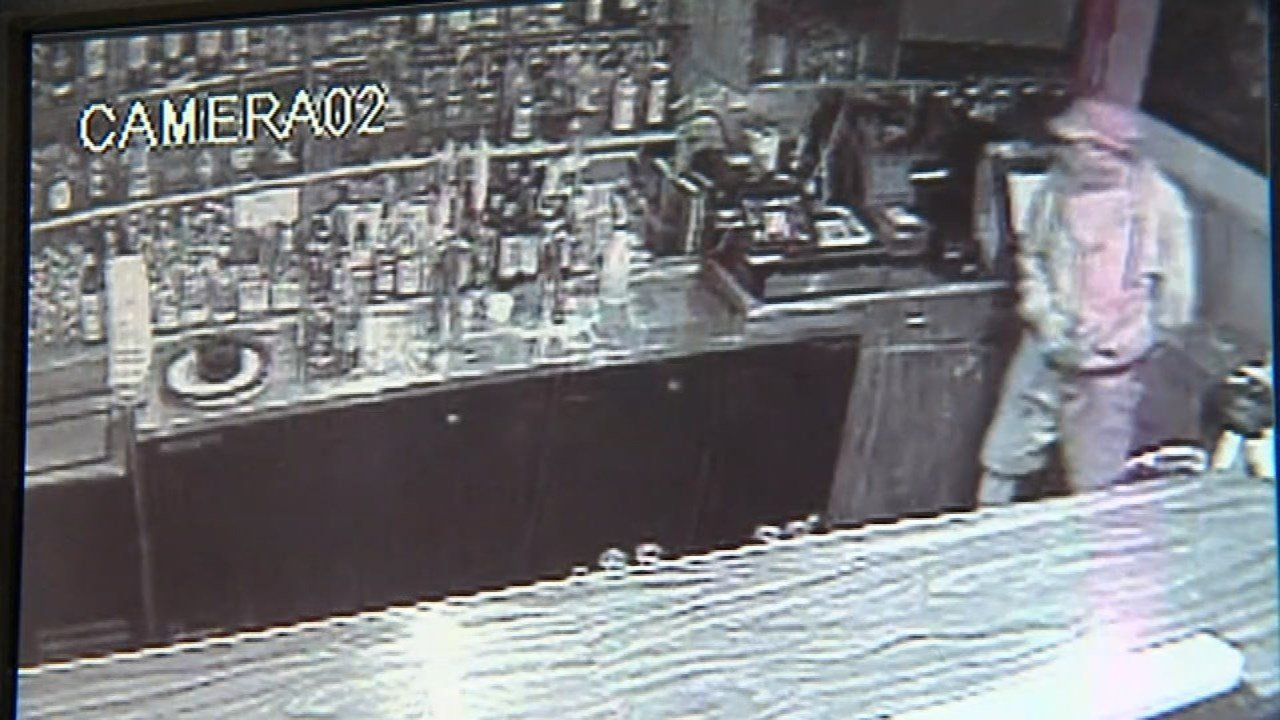 Surveillance image of the suspect breaking into Chen's Dynasty in northeast Portland (KPTV)