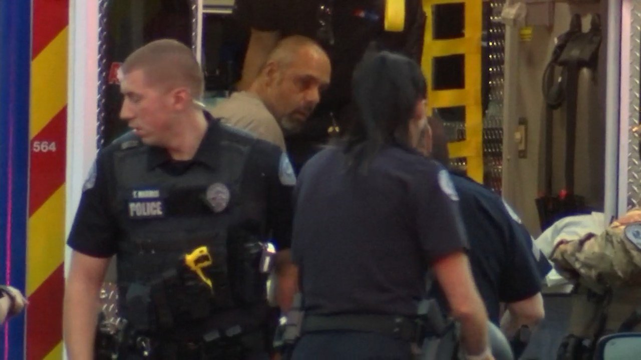 Suspect, Ryan Royce, loaded into an ambulance after a standoff with police. (KPTV)