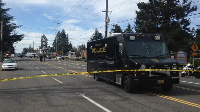Police said a woman was entering the crosswalk when she was hit by an eastbound car at Northeast 117th and Glisan Street in March. (KPTV file image)