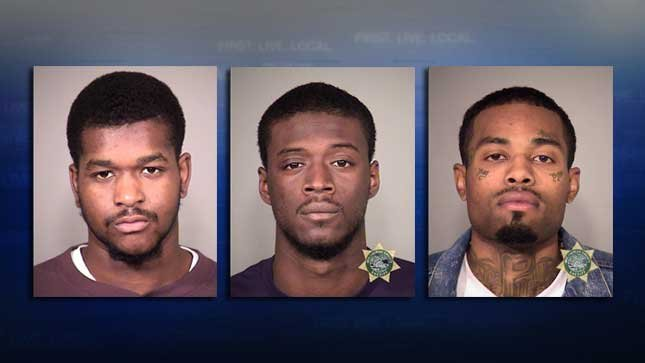 Left to Right: DeAnthony Simmons, Demetruis Ray Brown, Geontae Jones (Courtesy: PPB)