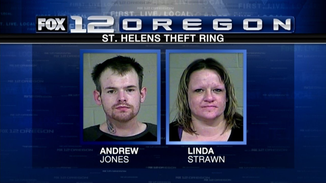 Andrew Lee Jones and Linda Marie Strawn were indicted on dozens of felonies in a massive mail and identity theft case. (KPTV)
