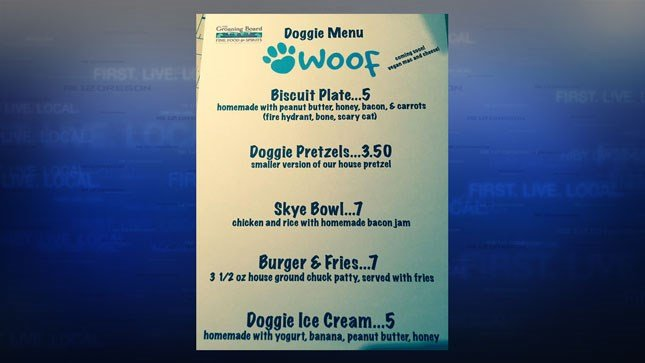 The Groaning Board Doggie Menu (Courtesy: Facebook)