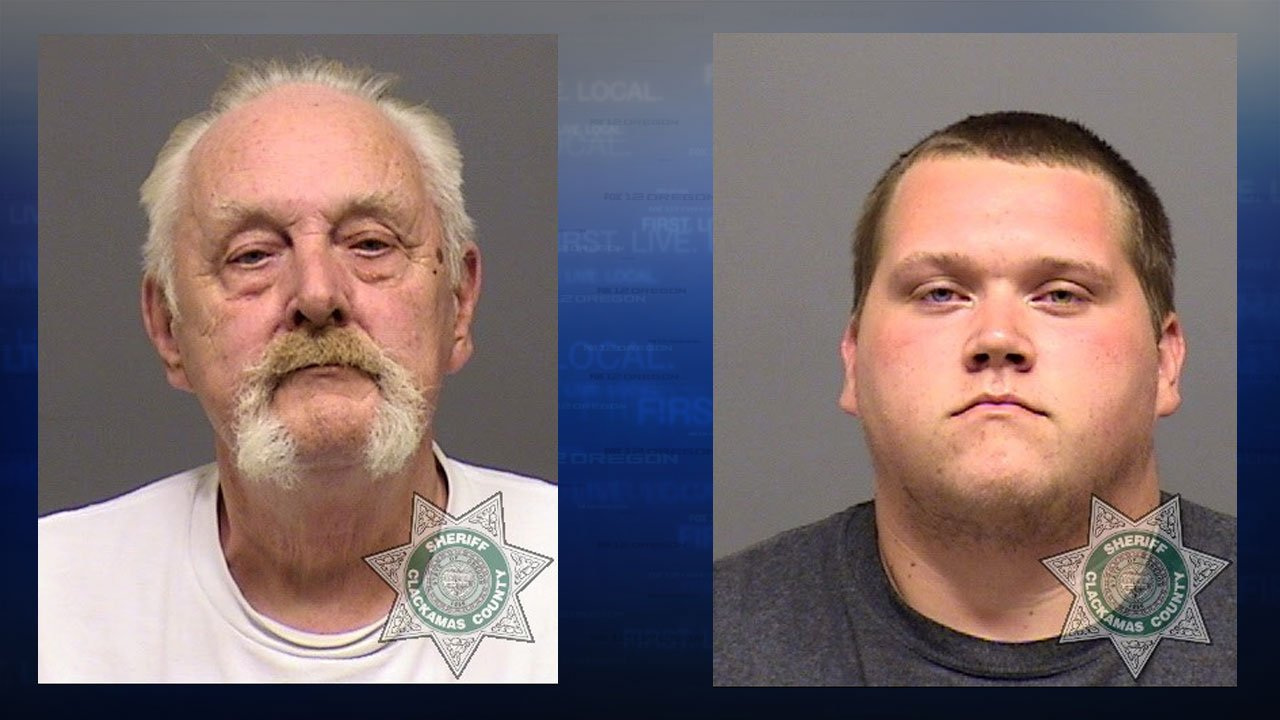 William A. Kirk Sr. Troy L. Kirk Jr. booking photos (Clackamas County Sheriff's Office)