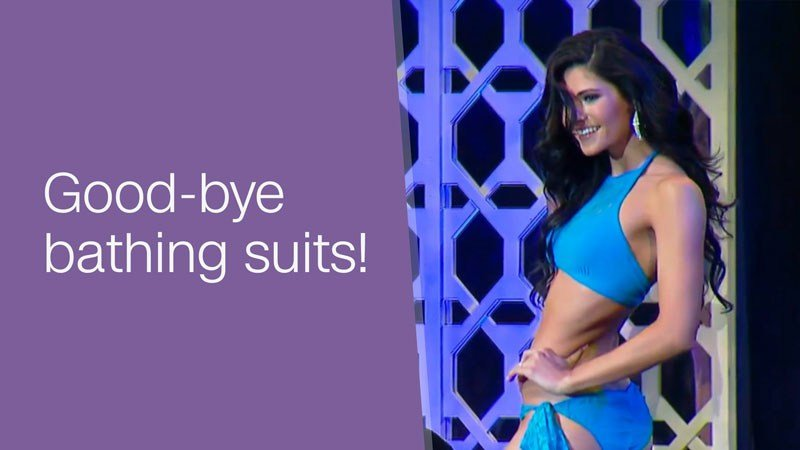 Swimsuits at the Miss Teen USA pageant are officially dead in the water. The organization is ending the swimsuit portion of the beauty pageant and replacing it with an athletic wear competition, a spokesperson confirmed to CNN. (YouTube.com/CNNMoney)