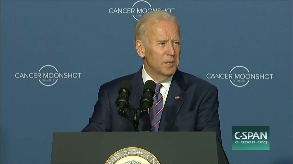 Vice President Joe Biden praised the work of Providence Cancer Center as part of the Oncology Precision Network during the Cancer Moonshot Summit event Wednesday. (Image courtesy of C-SPAN)