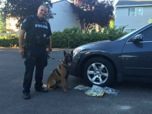 Vancouver Police Officer Evans and K9 Tripp.(Photo: Vancouver Police Department)