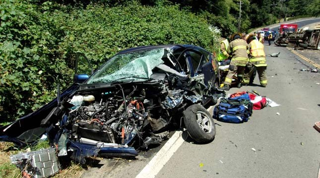 Logan Kitzhaber, the 19-year-old son of former Oregon Gov. John Kitzhaber, was one of three people injured in a crash on Highway 101 near Lincoln City on the Fourth of July. (Photo: OSP)
