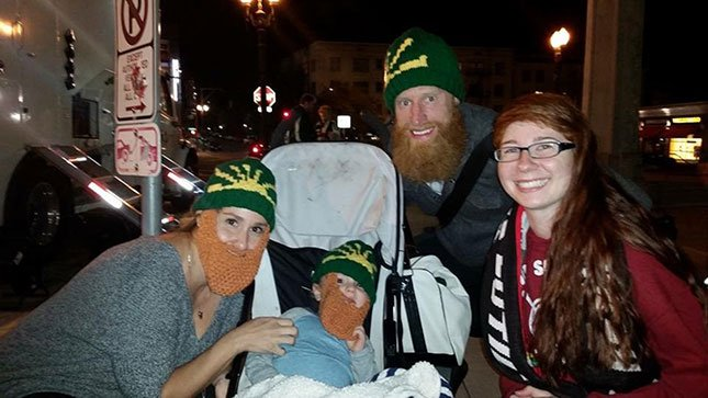 Lyndsea Moore with Nat Borchers and his family. (Photo: Lyndsea Moore)
